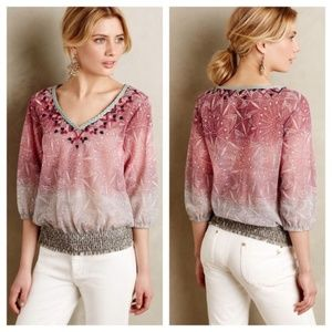 Anthropologie Akemi+Kin Pink Ombre Shear top